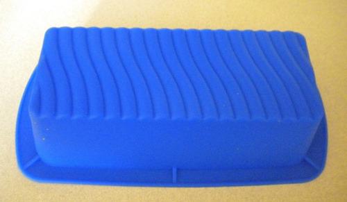 molde de silicón para panqué rectangular