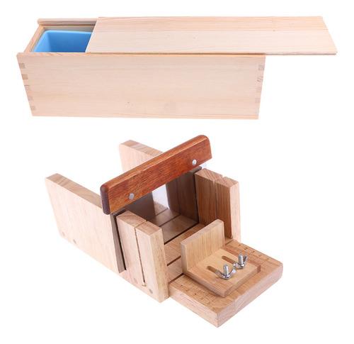 molde de silicona de jabón loaf + diy caja de madera tapa