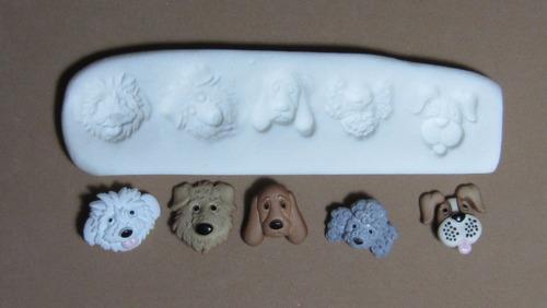 molde de silicona flexible  caritas   perros  mq  # 44