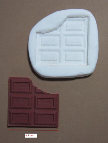 molde de silicona flexible chocolatina   mq  # 49