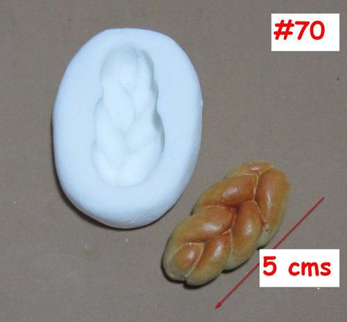 molde de silicona flexible pan  mq   #70