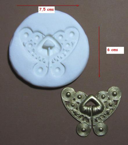 molde de silicona flexible  precolombino   mq  # 52