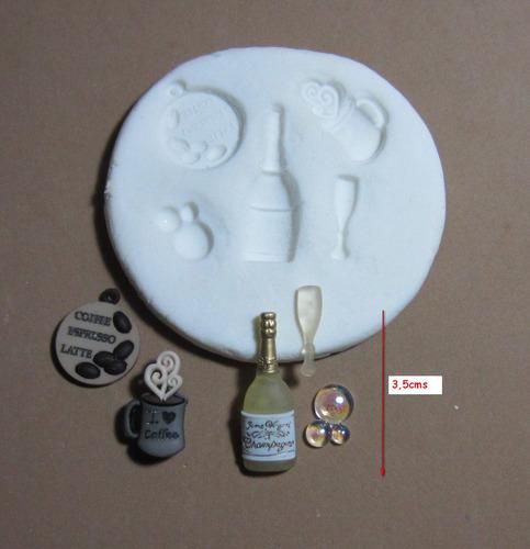 molde de silicona flexible set bebidas  mq  # 51