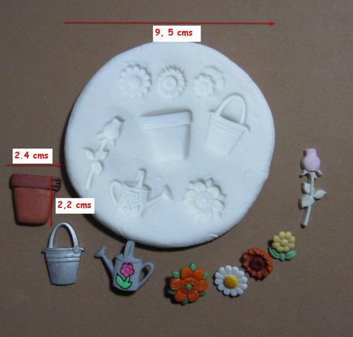molde de silicona flexible set jardineria   mq  # 48