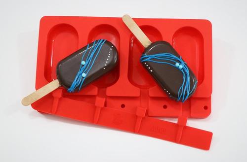 molde de silicona minor paletas palitos helados cake pops