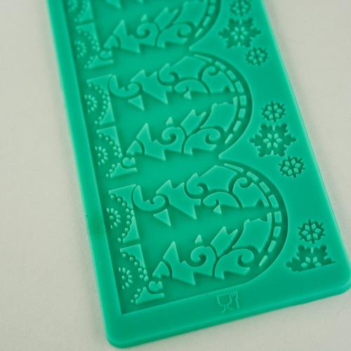 molde de silicona para fondant motivo navideño