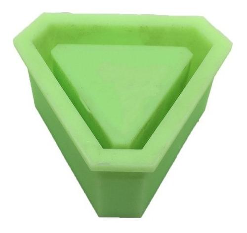 molde de silicona para macetas, triangulo, chico