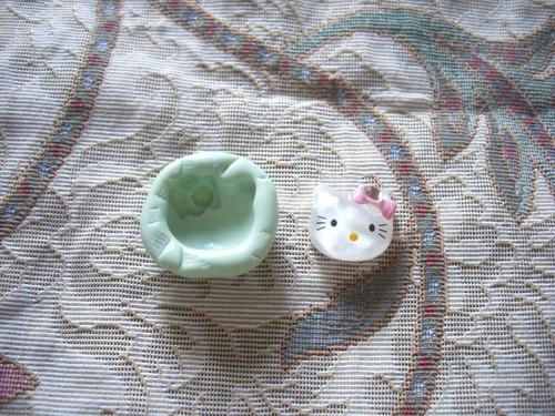 molde de silicona para reproducir decoracion carita de kitty
