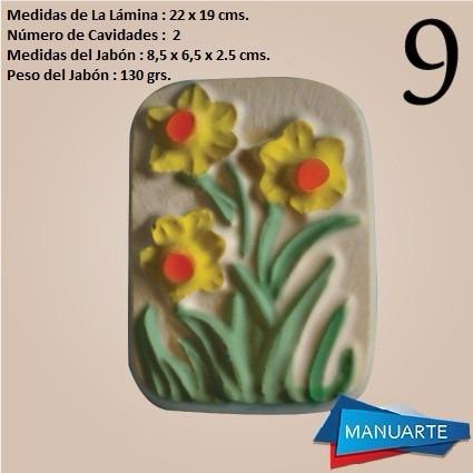 molde de siliconas  flores para jabon de glicerina
