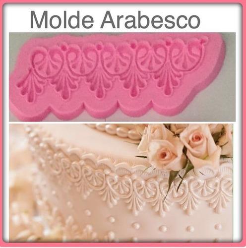 molde de silicone arabesco biscuit pasta americana