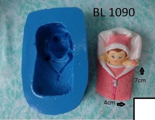 molde de silicone - bebê manta menina biscuit ( bl1090)