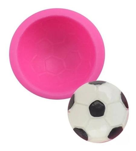 molde de silicone bola de futebol biscuit pasta americana
