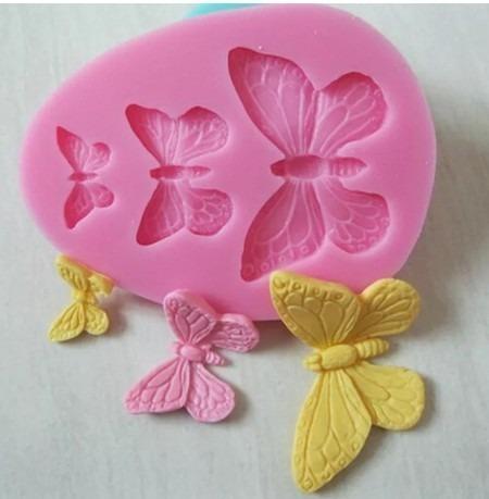 molde de silicone borboleta biscuit pasta americana