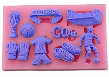 molde de silicone copa futebol biscuit pasta americana