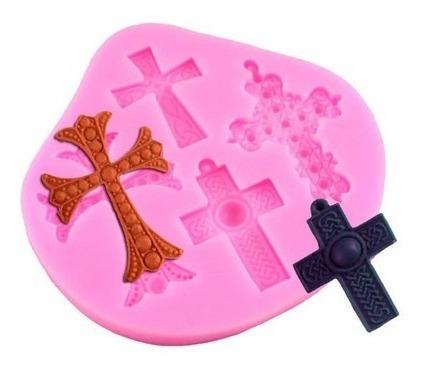 molde de silicone cruz design 3d biscuit pasta americana