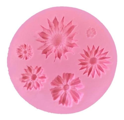 molde de silicone flores e girassol biscuit pasta americana
