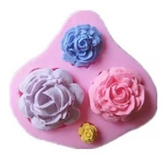 molde de silicone flores rosas biscuit pasta americana