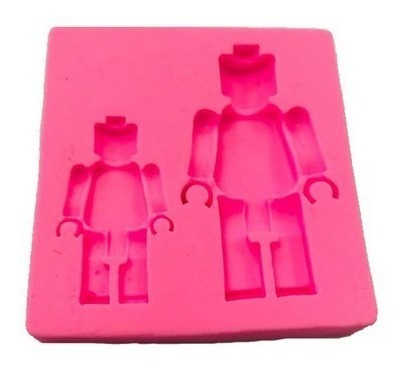 molde de silicone lego biscuit pasta americana