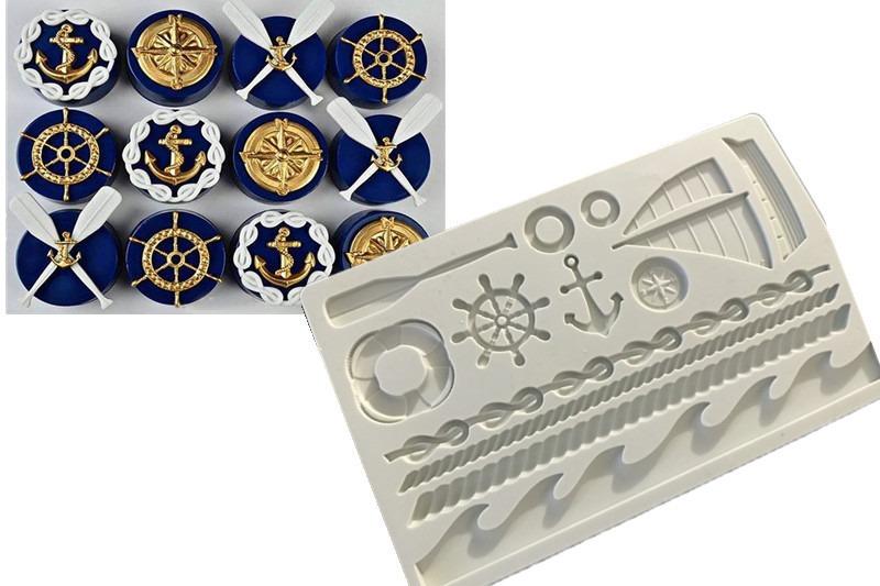 molde de silicone marinheiro âncora timão pasta americana. Carregando zoom. e8dd21e8ac5
