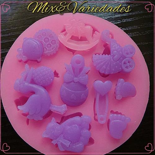 molde de silicone miniaturas bebê biscuit chocolate