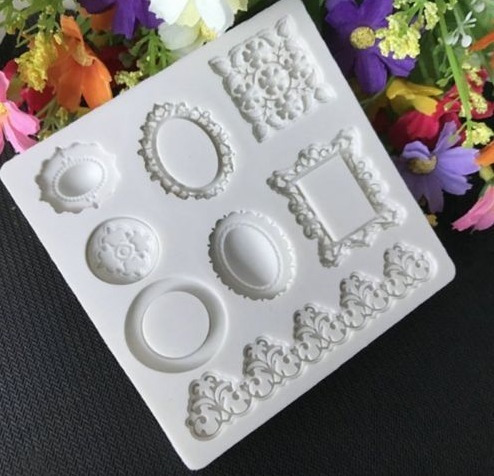 molde de silicone molduras biscuit pasta americana