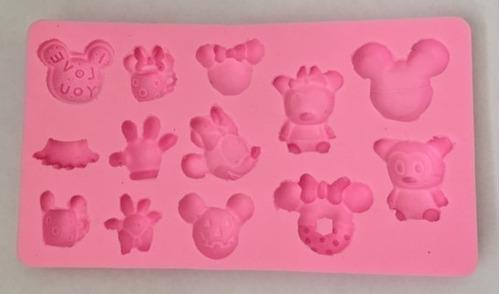 molde de silicone para bolo e cupcakes minnie e mickey
