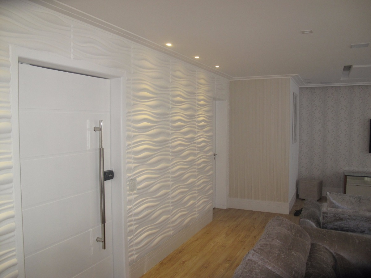Molde de silicone para placas de gesso 3d parede 30x80cm - Placas para paredes ...