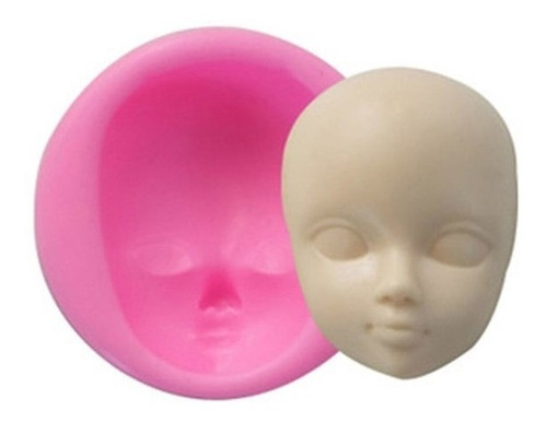 molde de silicone rosto biscuit pasta americana