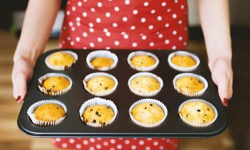 molde de teflon muffins x12 cupcakes reposteria antiadherent