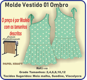 4eb9377357 Moldes Vestido Infantil no Mercado Livre Brasil