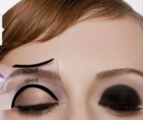 molde delineador olho de gatinho + molde sombra smokey eye