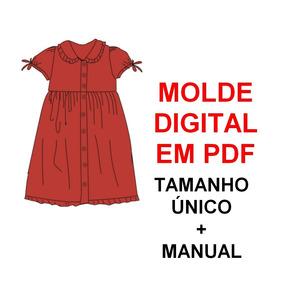 967e4bf5f1 Molde De Vestido Tubinho Com Manga no Mercado Livre Brasil