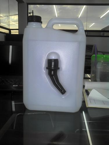 molde envase 4lt soplado con cavidad para embudo con molde