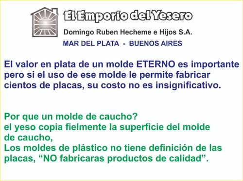 molde  eterno goma  flex modelo tecno 3d placa antihumedad