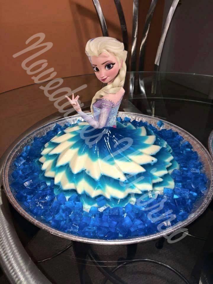 Molde Falda Vestido Frozen Gelatina Pastel Envio Gratis