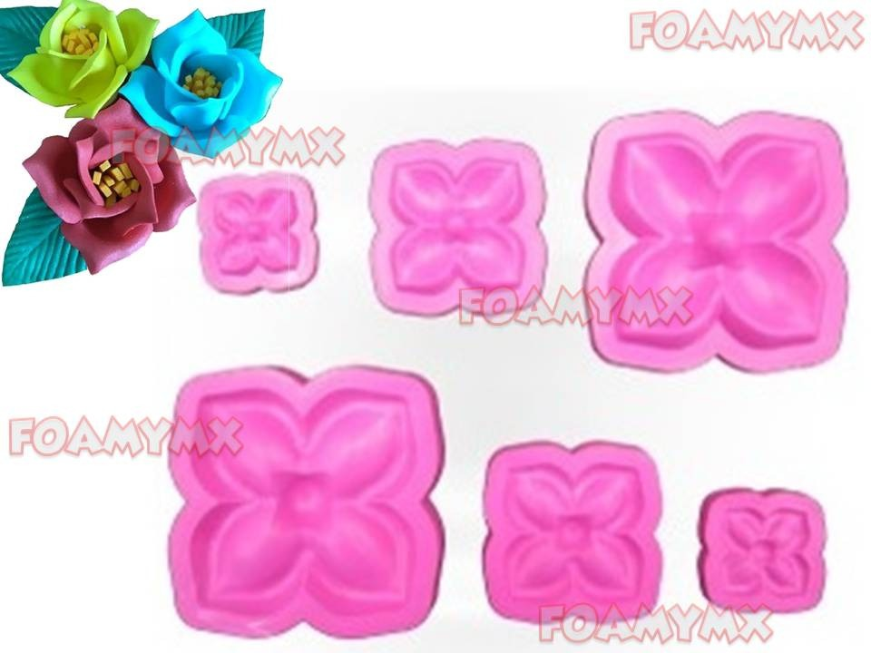 Molde Foamy Termoformado Fomi Fomy Flor Rosa Rosas 4 Petalos