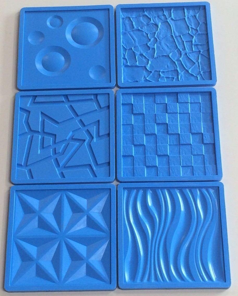 Molde forma silicone gesso placa parede42x42cm 6pe as - Placas decorativas para pared interior ...