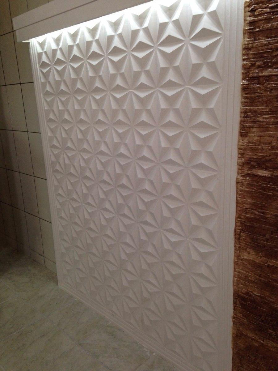 Molde forma silicone gesso placa parede 3d 39x39cm for Placas para pared