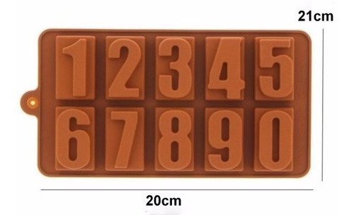molde forma silicone números médios decoração bolo doces