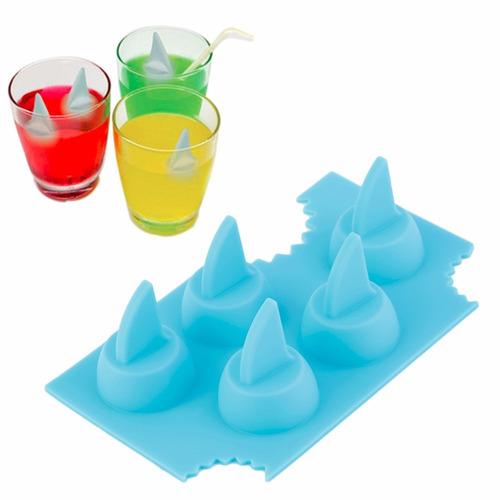 molde hielera aleta tiburon verano divertido x 2 und
