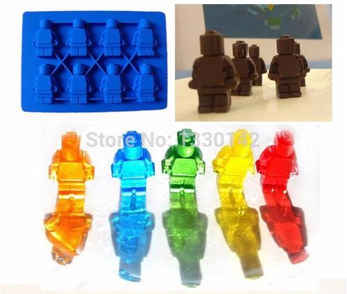 molde hielo, gomita, cholateria lego - 3 moldes x s/35.00