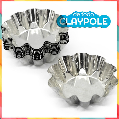molde hojalata mini tartaletas  set 12 unid - 6 cms diámetro