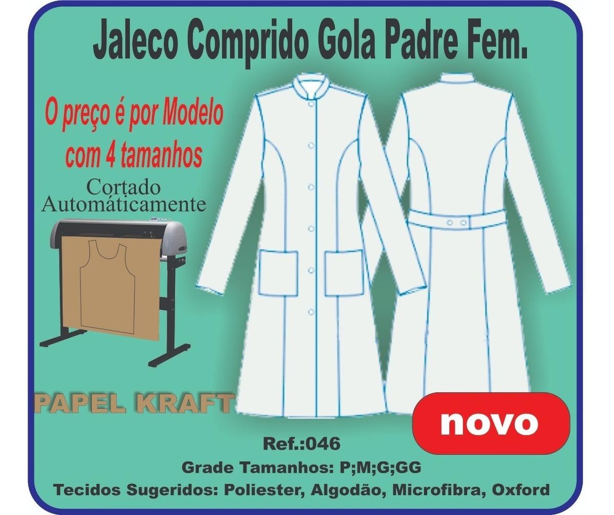 Molde Jaleco Feminino Com Gola Padre 046 R 55 00 Em Mercado Livre