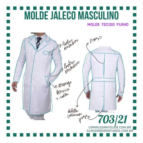 molde jaleco masculino 701/21