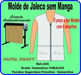 08b9dac5c6 Moldes Jaleco Feminino Sem Mangas no Mercado Livre Brasil