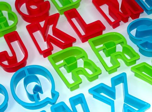 molde letras juego abecedario galletas fondant. 4024