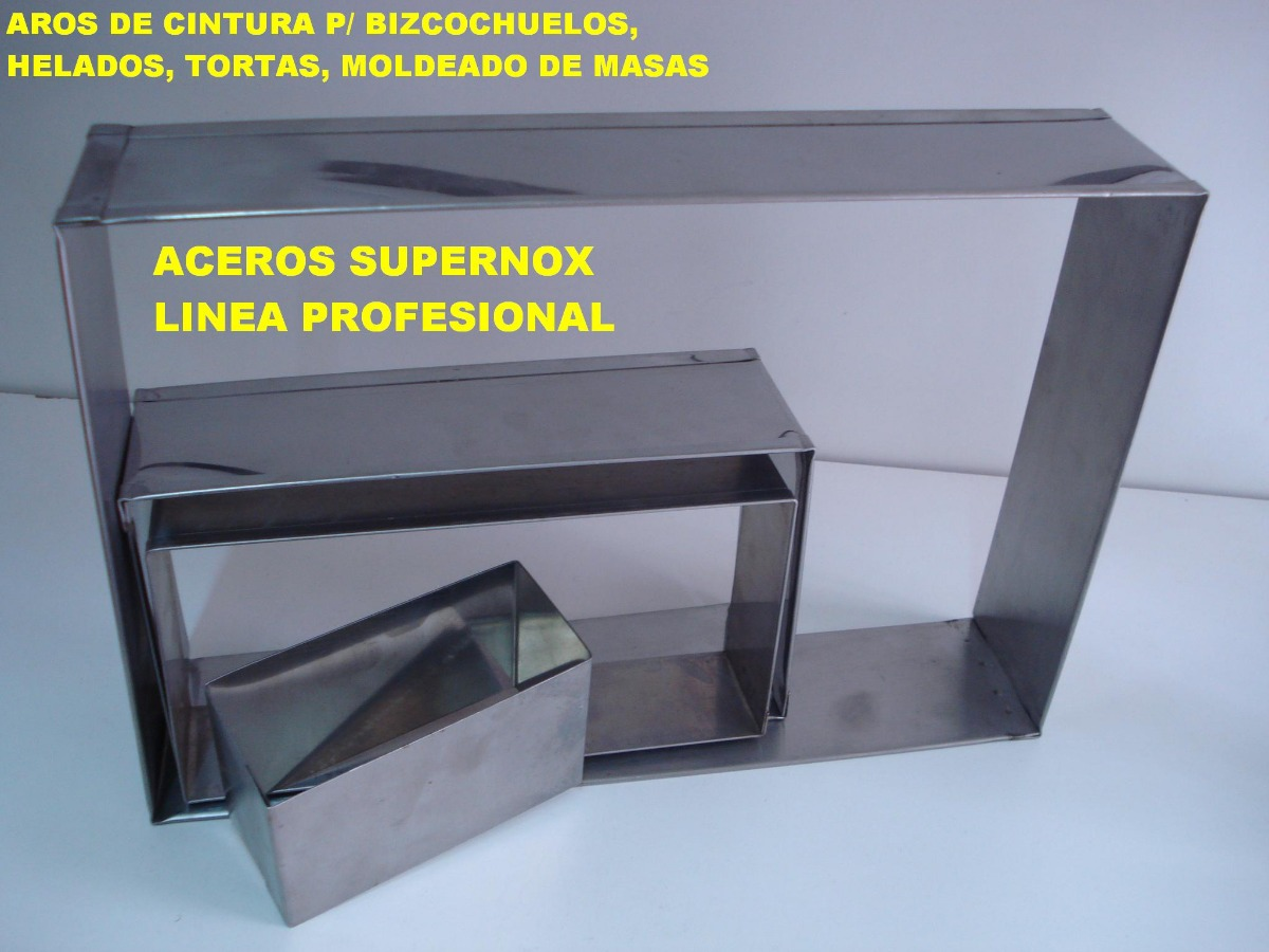 Molde Marco Cintura Rectangular 14x24 P/ Bizcochuelo Torta - $ 538 ...