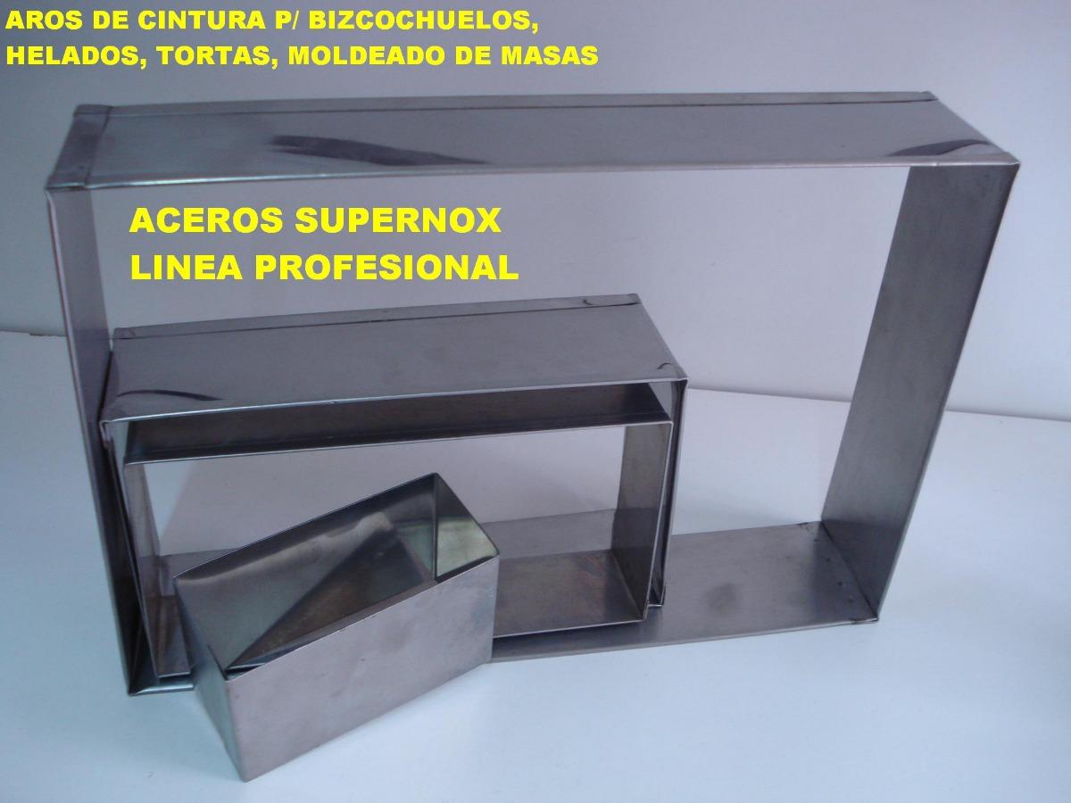 Molde Marco Cintura Rectangular 28x38x5 Tortas Bizcochuelos - $ 980 ...