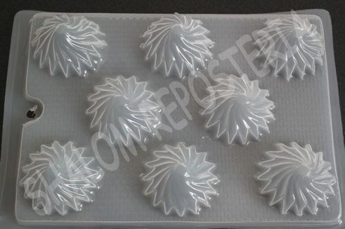 *molde mediano gelatinas jabones 8 espirales ch m1 faldas