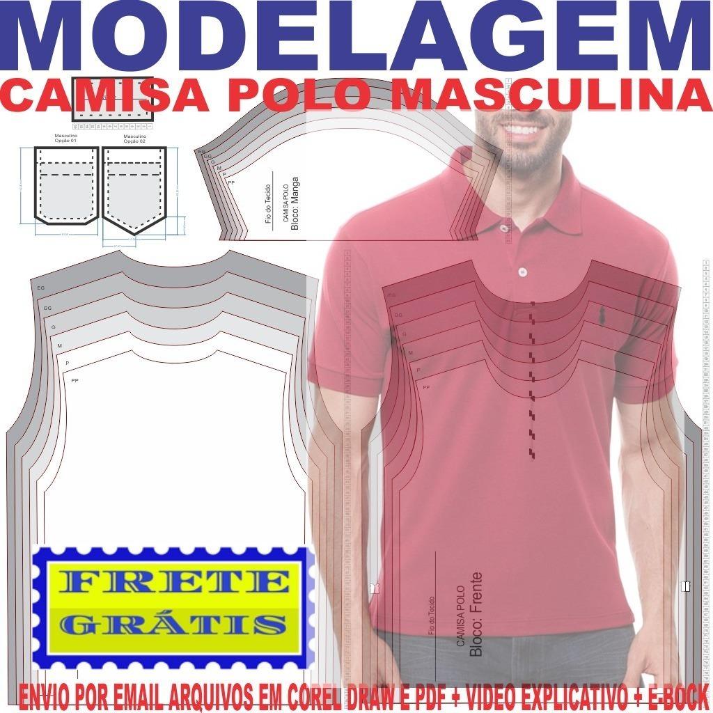 233d90a817ec2 molde modelagem camisa polo masculina. Carregando zoom.